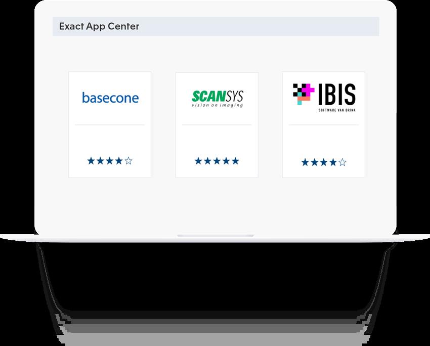 Koppel uw favoriete software met Exact voor Bouw