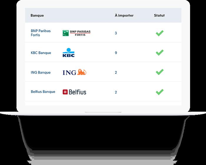 Interface automatique avec votre banque