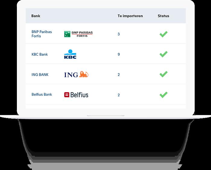 Automatische koppeling met uw bank