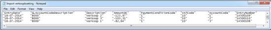 Importeren van boekingen via CSV/Excel